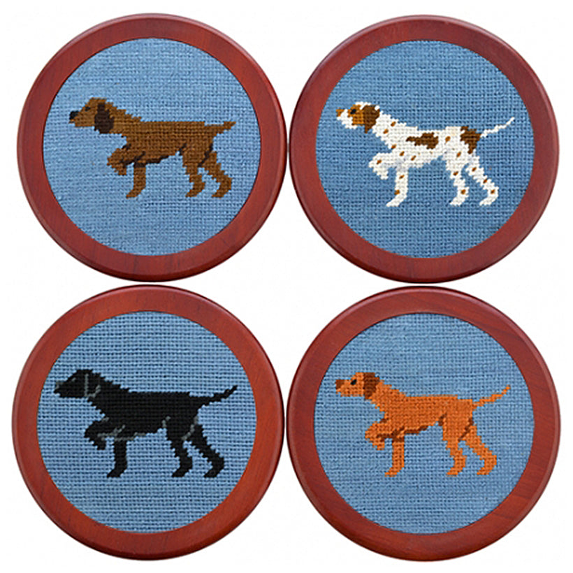 Smathers & Branson Needlepoint Coaster Set