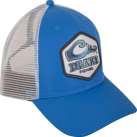 Drake Fishing Hex Patch Mesh Back Cap cobalt/gray