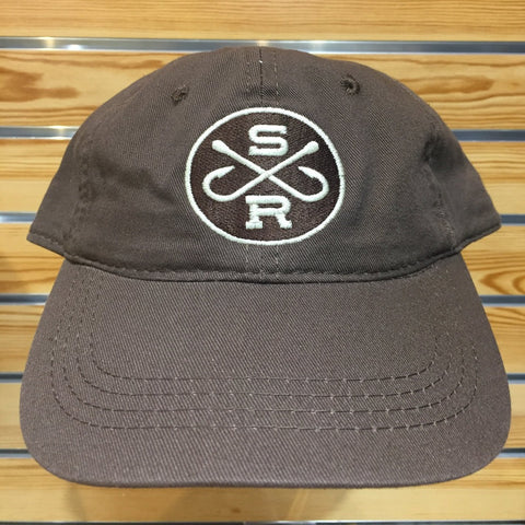 Southern Reel Outfitters hat white round southern reel outfitters round logo.
