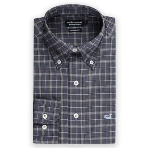 Southern Marsh Bastrop Performance Check Dress Shirt