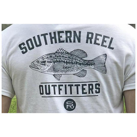 Southern Reel Outfitters Bass Printed T-Shirt (Front Pocket)