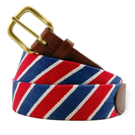 Smathers & Branson Patriotic Stripe Needlepoint Belt