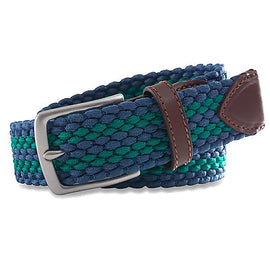 Southern Tide Braided Elastic Striped Web Belt