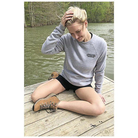 Southern Reel Outfitters Heather Gray sweatshirt, Front View