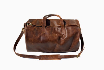 Drifter Leather Duffel Travel Bag