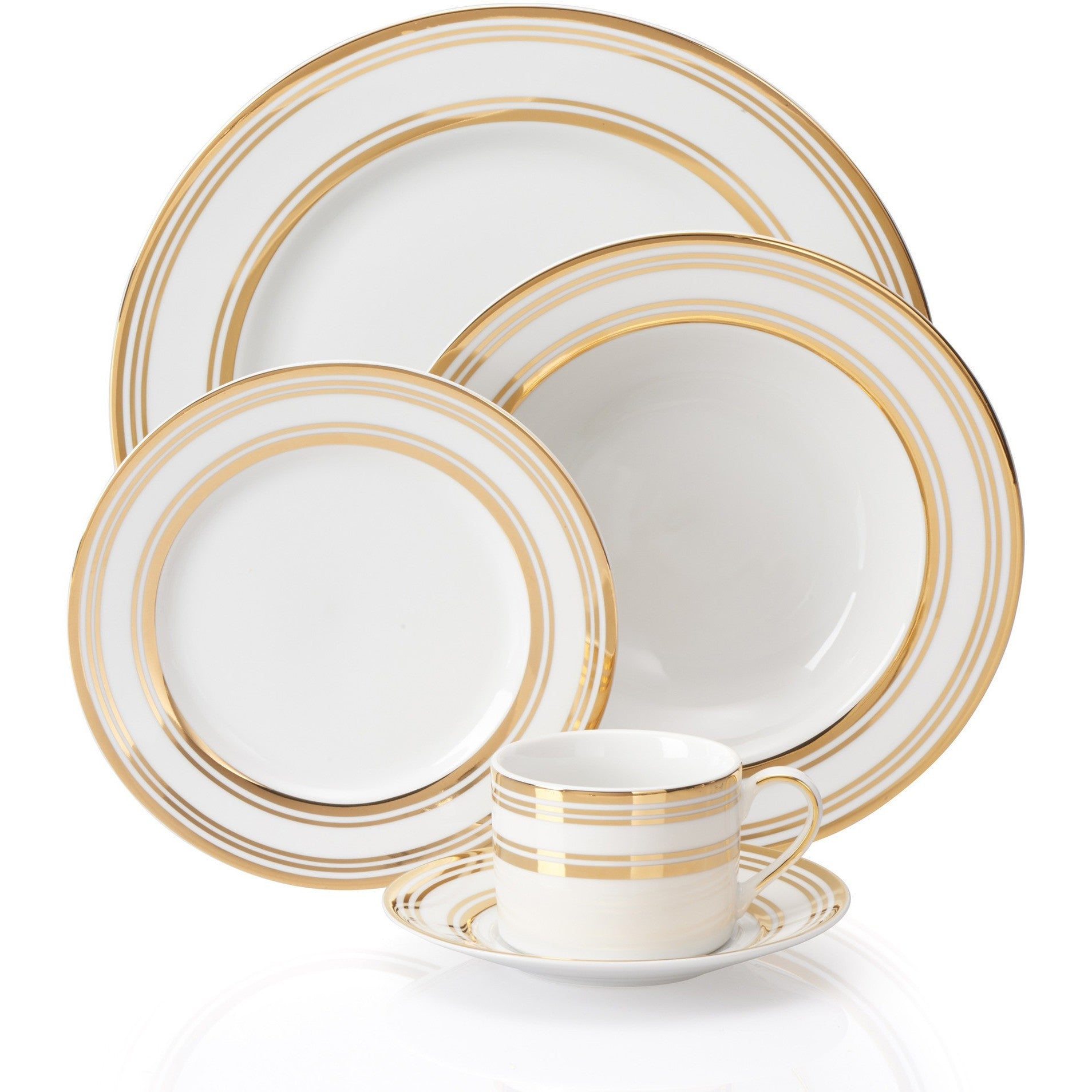 Gold Trim Dinnerware Set ...  sc 1 st  Britten Couture Home & Circa Gold Trim Dinnerware