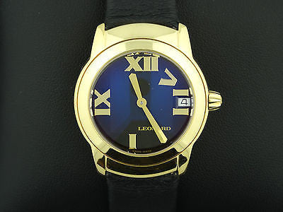LEONARD 18K SOLID GOLD SPHERE LADIES WRISTWATCH BEAUTIFUL