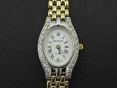 LADIES GENEVE .6ct Diamond 14KY Gold Swiss Watch