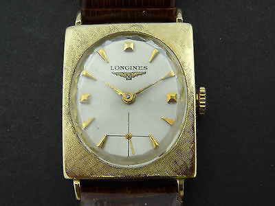 MEN'S LONGINES 14K GOLD MANUAL WIND VINTAGE WATCH