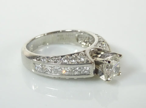 14K White Gold & Diamond Engagement Ring