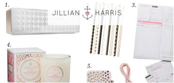 JILLIAN HARRIS — TOP 5 DESK ITEMS THAT CAN HELP IGNITE CREATIVITY