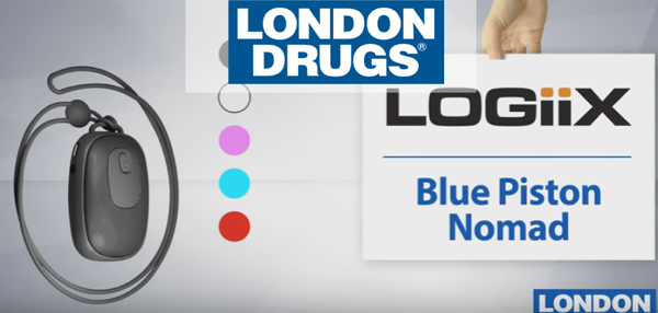London Drugs — The Logiix Blue Piston Nomad - A Speaker, A Remote Shutter