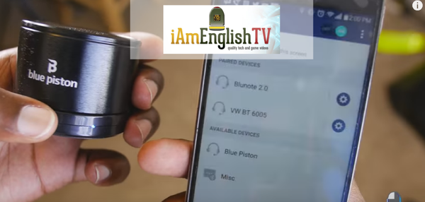 iAm English-TV — Blue Piston Wireless Speaker by Logiix: A Hands-On Review