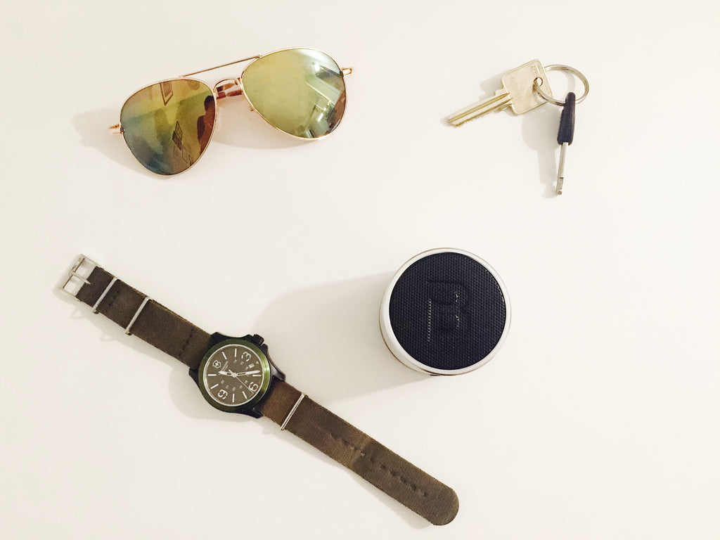 Sunglasses Blue Piston Speaker and Watch