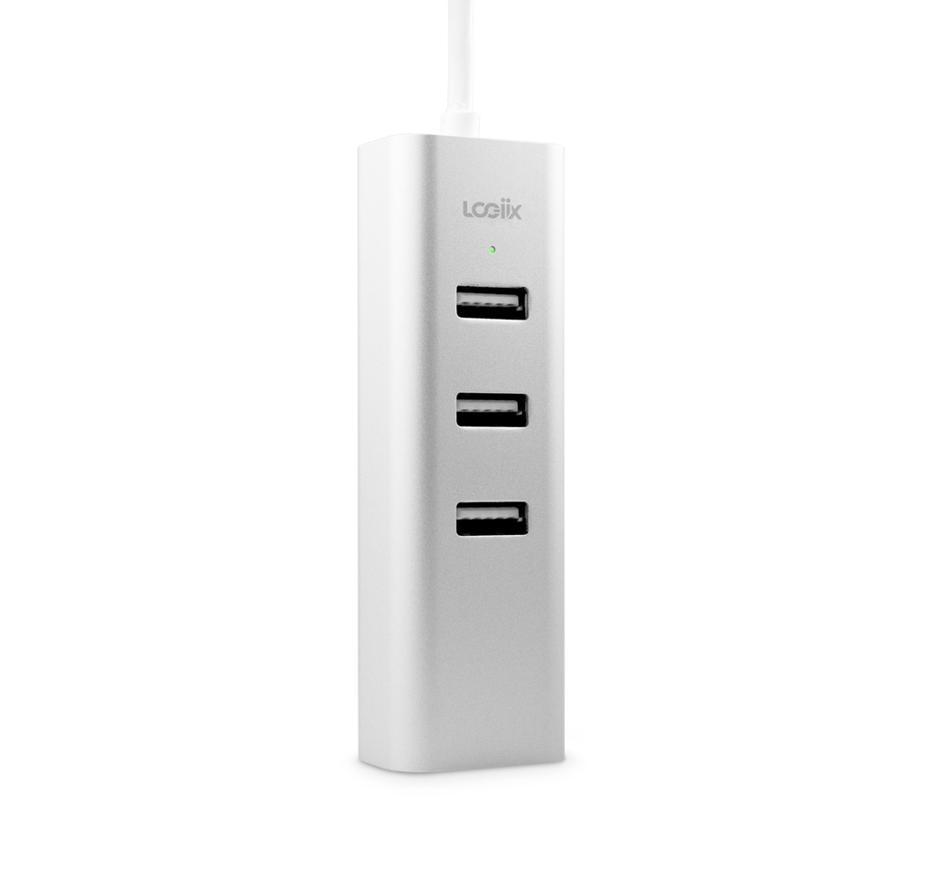 USB-A 3 Port Hub + 1Gbit Ethernet Adapter