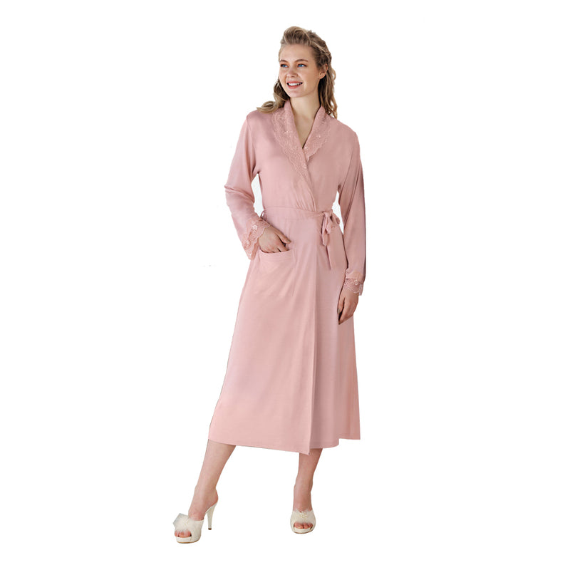 FC Fantasy 1155 Rosely Maternity Robe, Pink