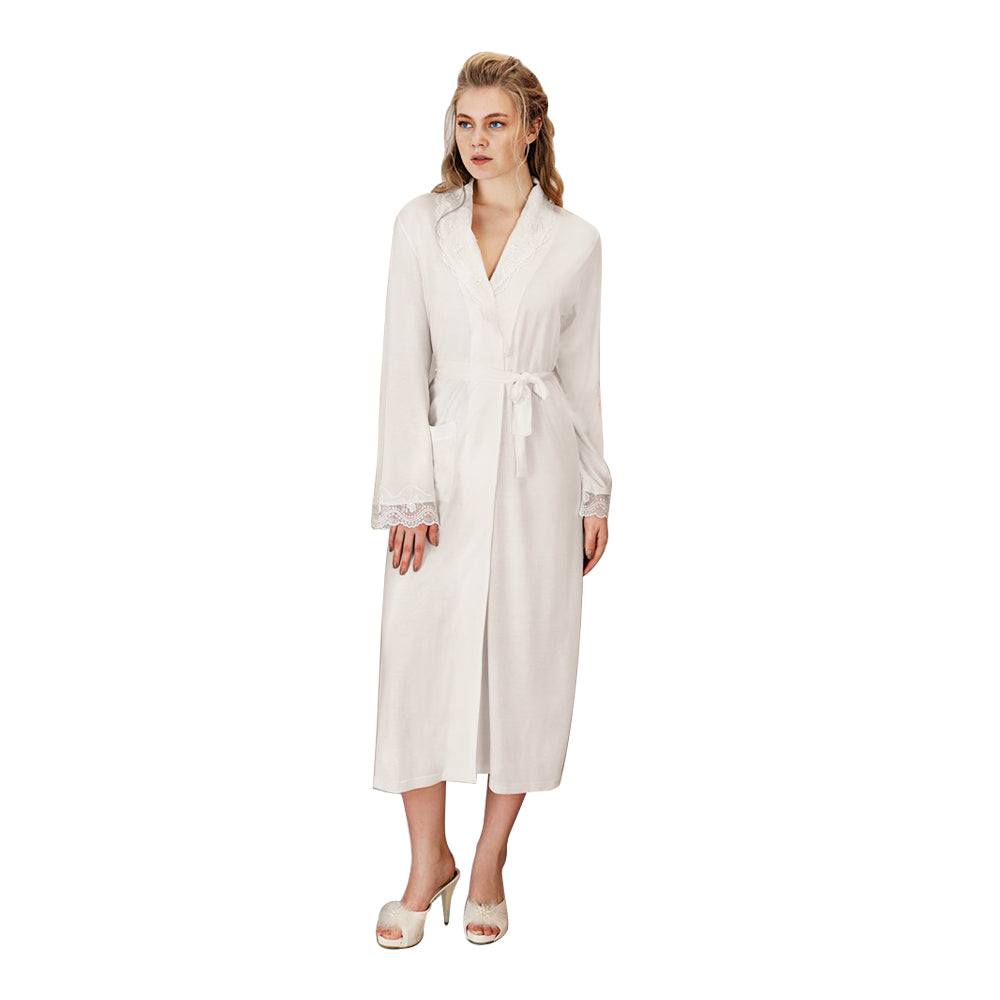 FC Fantasy 1155 Rosely Maternity Robe, White
