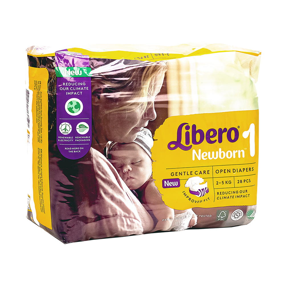 Libero Size 1 Newborn Diapers - 28 Pieces