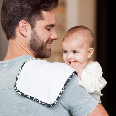 Bebe Au Lait Nursing Tribeca - Nursing Cover and Matching 3 Burp Cloths