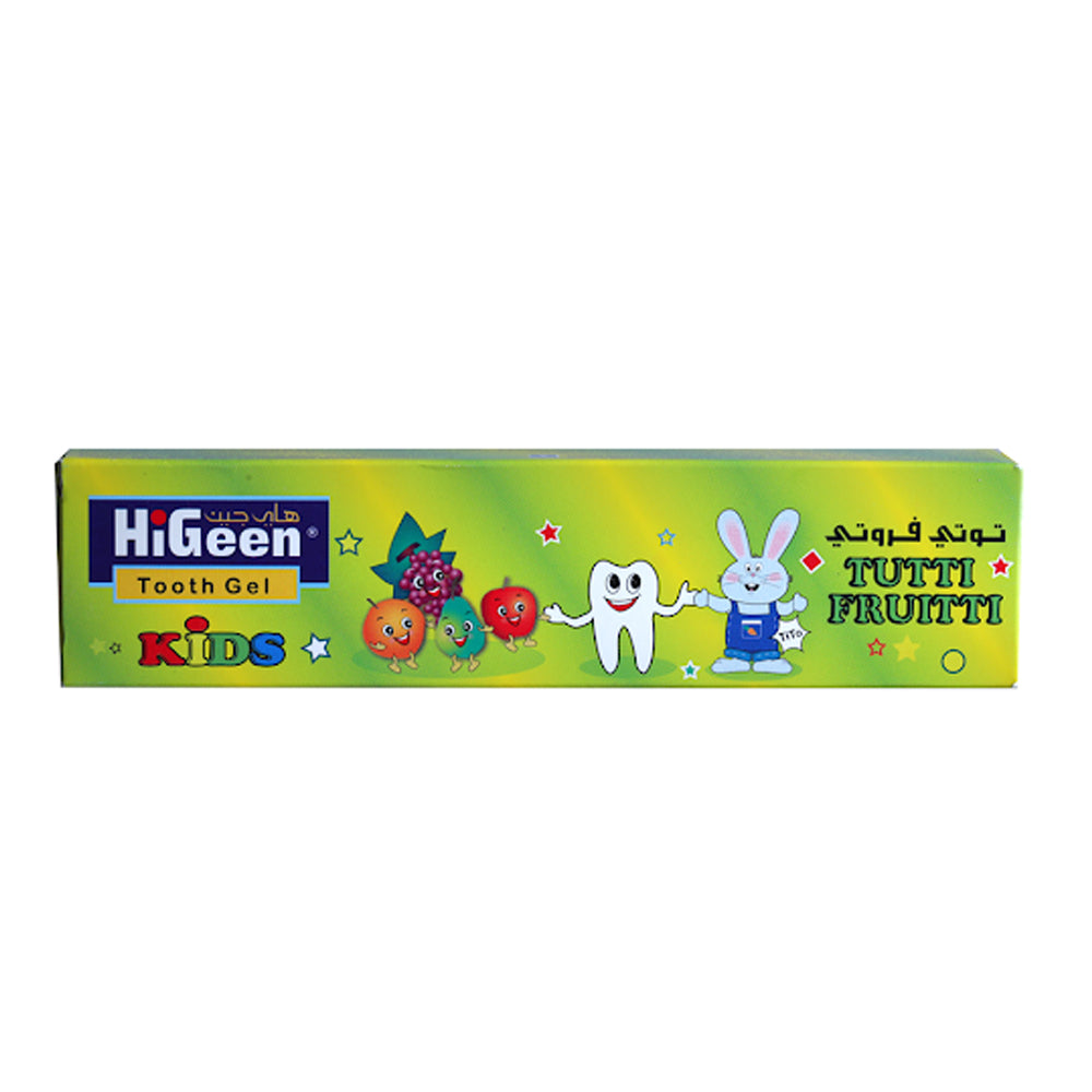 HiGeen Tooth gel Tutti Frutti Flavour, 60gm