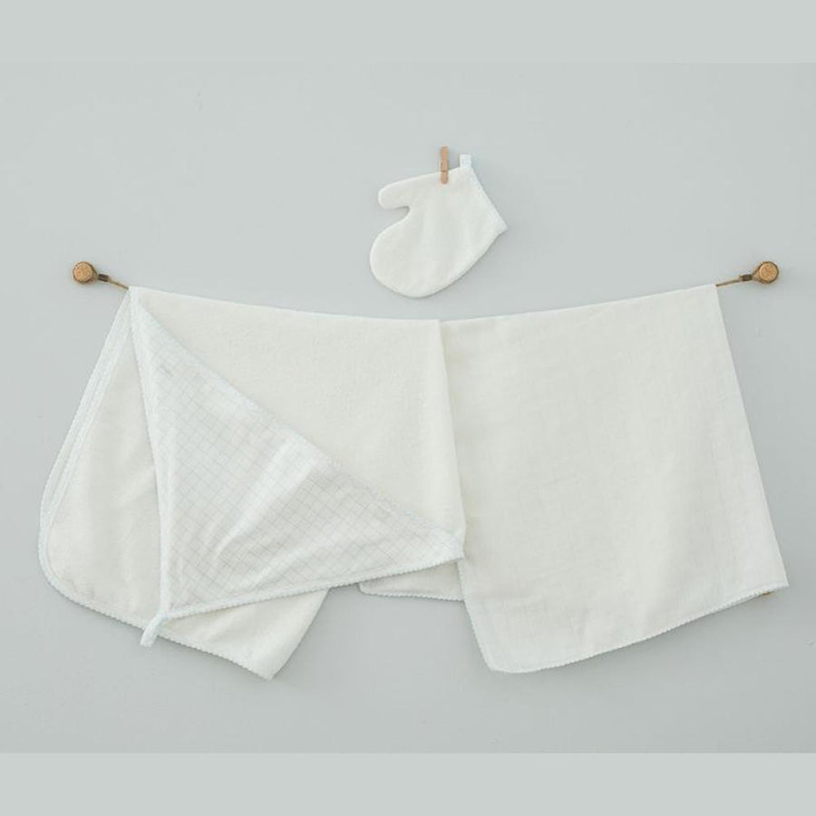 Andywawa 3 Pieces Set Towel Muslin Set Chic Boys - Ecru