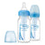 "Dr Brown's Narrow Neck ""Options"" Baby Bottle Blue - PP, 4 oz / 120 Ml, Pack of 2"