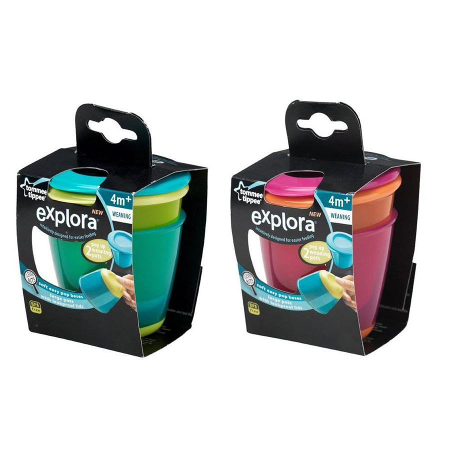 Tommee Tippee Explora Storage Pots, Pack of 2