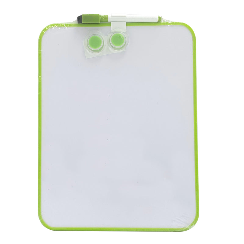 A4 Whiteboard with Two Magnetic Buttons and Marker, Green