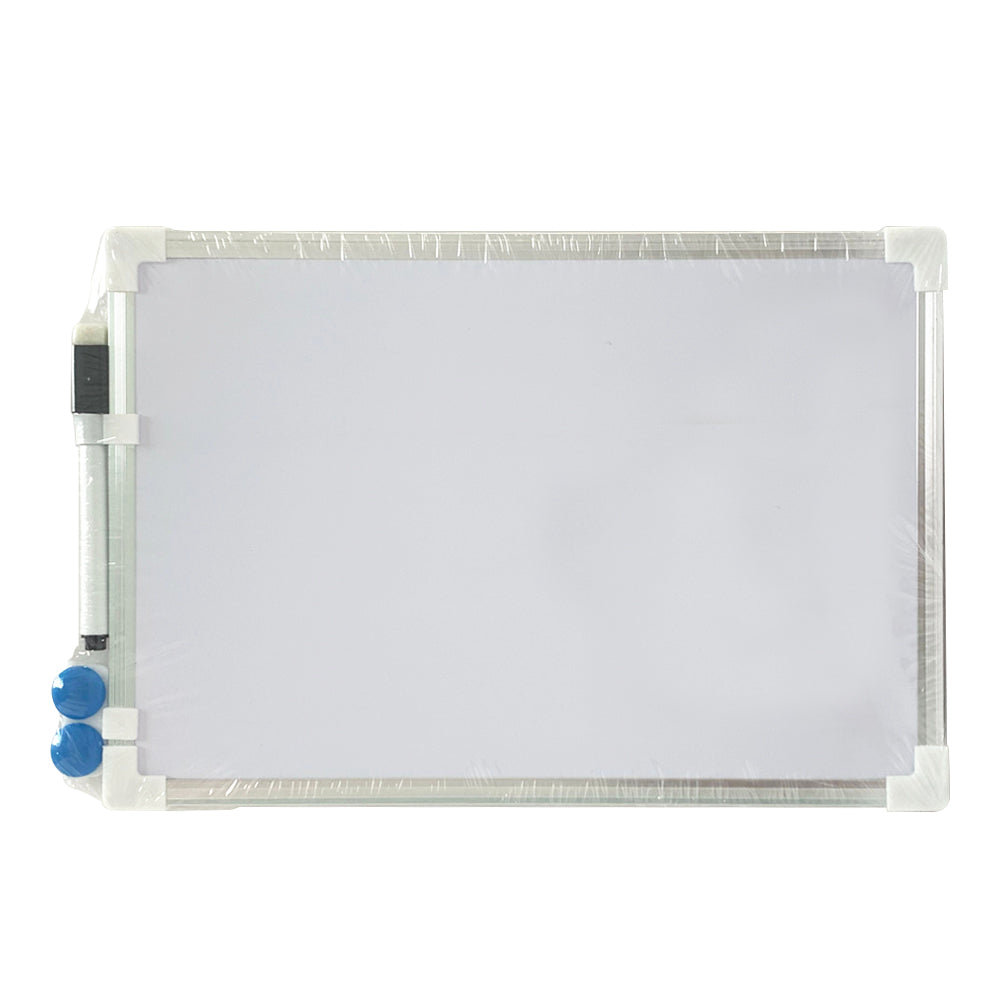 A4 Whiteboard with Two Magnetic Buttons and Marker, Metal Frame