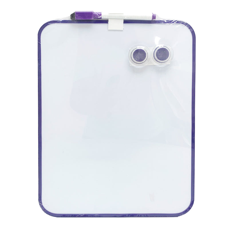 A4 Whiteboard with Two Magnetic Buttons and Marker, Purple