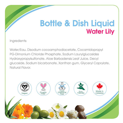 Aleva Naturals Bottle & Dish Liquid Water Lily, 500Ml