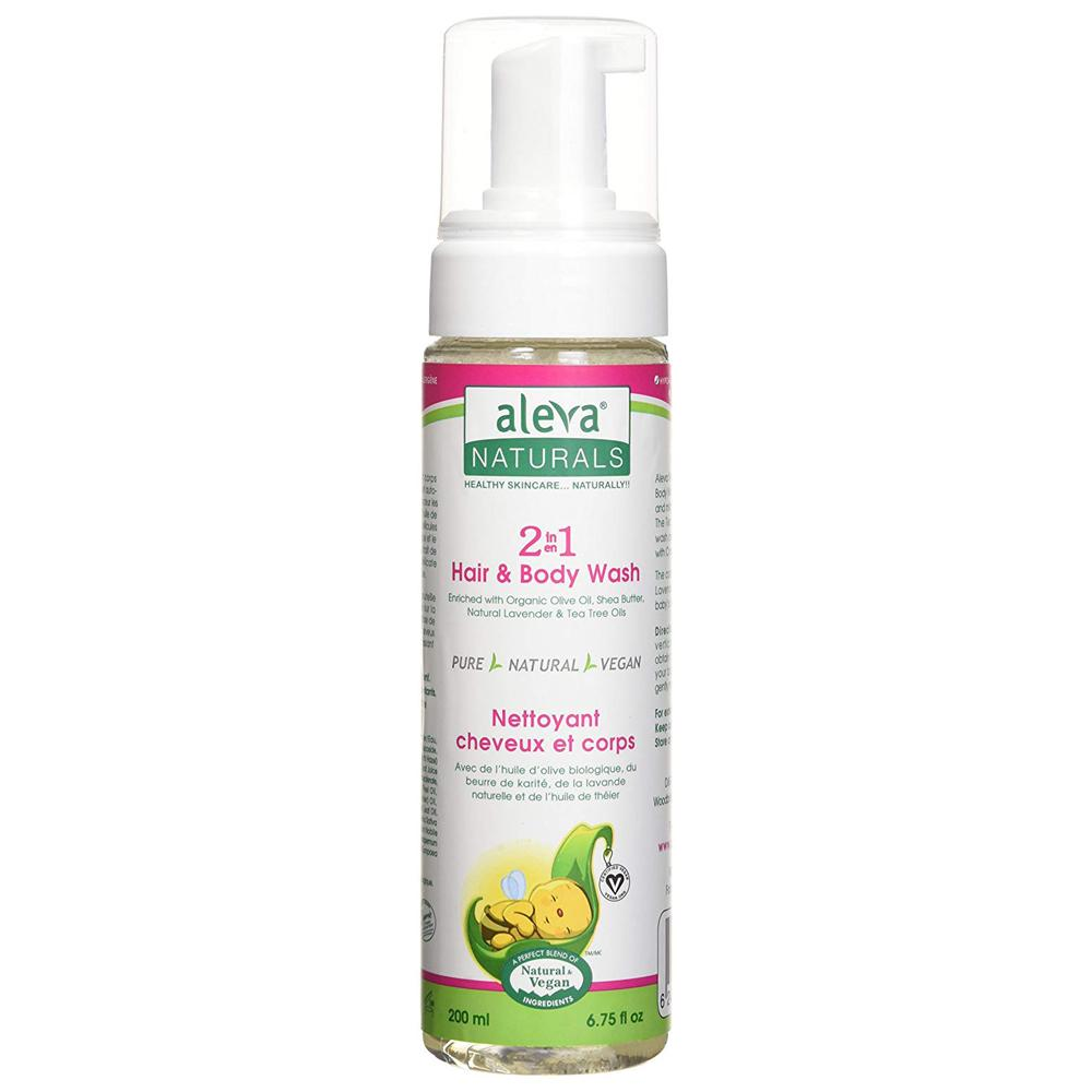 Aleva Naturals 2 in 1 Hair & Body Wash, 200Ml