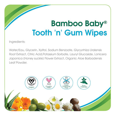 Aleva Naturals Baby Bamboo Tooth N Gum Wipes, 30 wipes