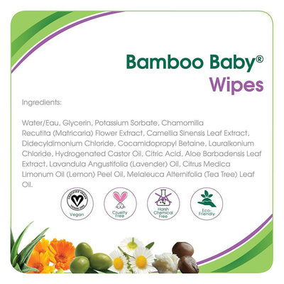 Aleva Naturals Bamboo Baby Wipes, 80 Wipes
