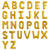 16 inch Gold Foil Balloons Alphabet Letters, Inflated with Helium