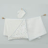 Andywawa 3 Pieces Set Towel Muslin Set Baby Caretta - Ecru