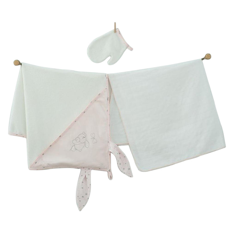 Andywawa 3 Pieces Set Towel Muslin Set Chic Girl - Ecru