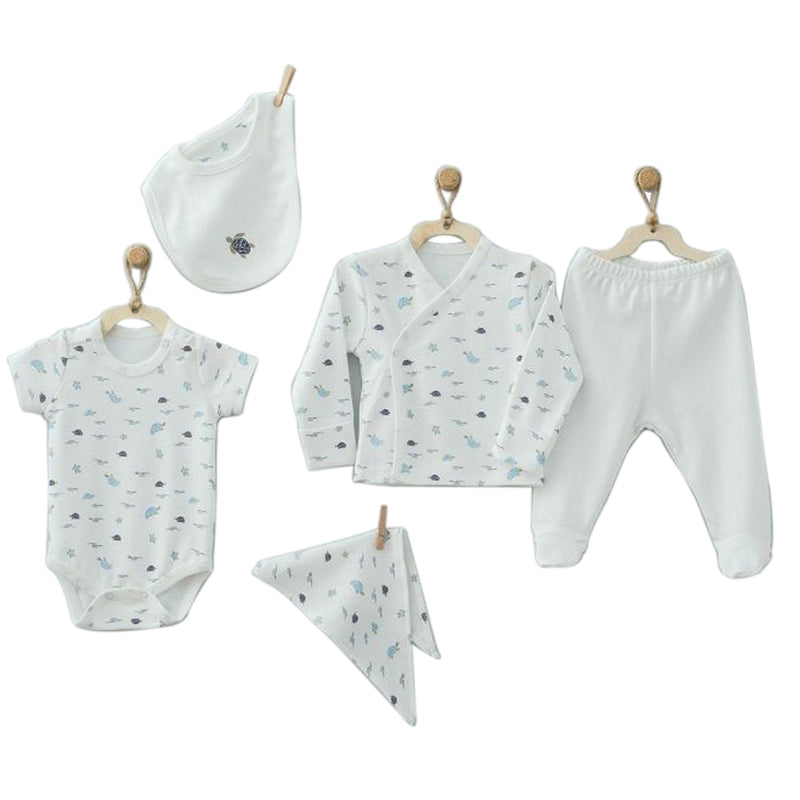 Andywawa 5 Pieces Set Baby Caretta - Ecru