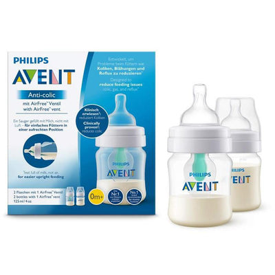 Philips Avent Anti-Colic Bottle with AirFree Vent 125ML, Pack of 2