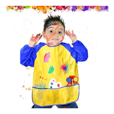 Kids Art Bib Waterproof, Blue