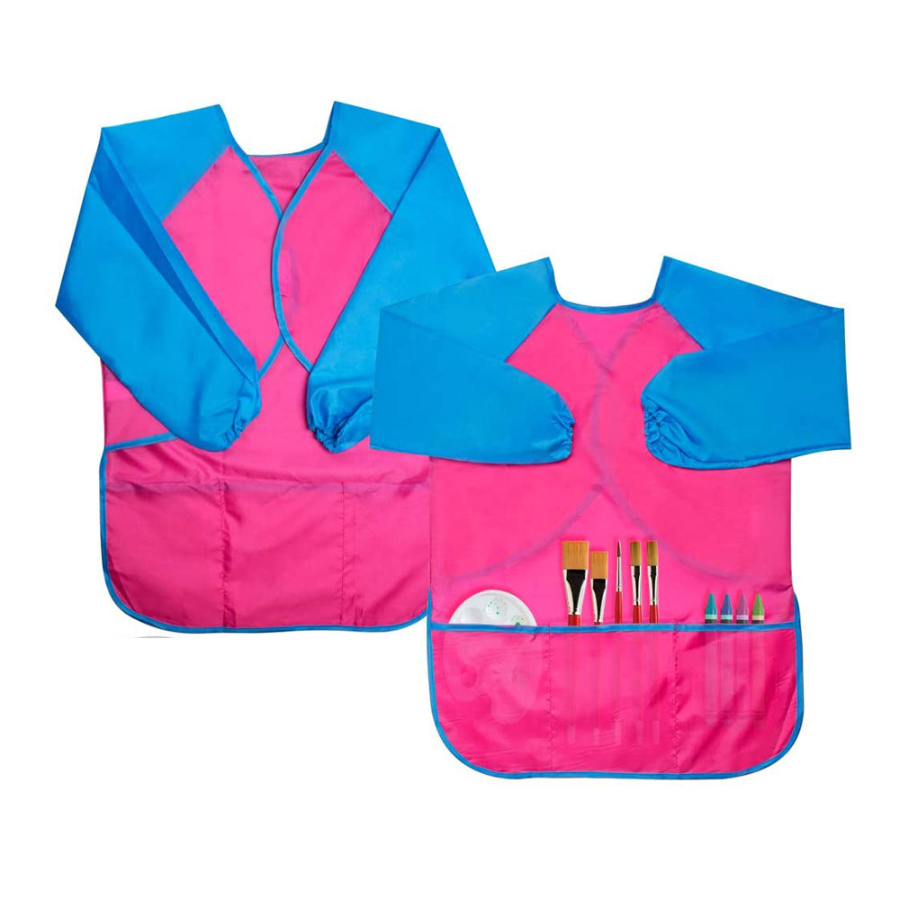 Kids Art Bib Waterproof, Pink