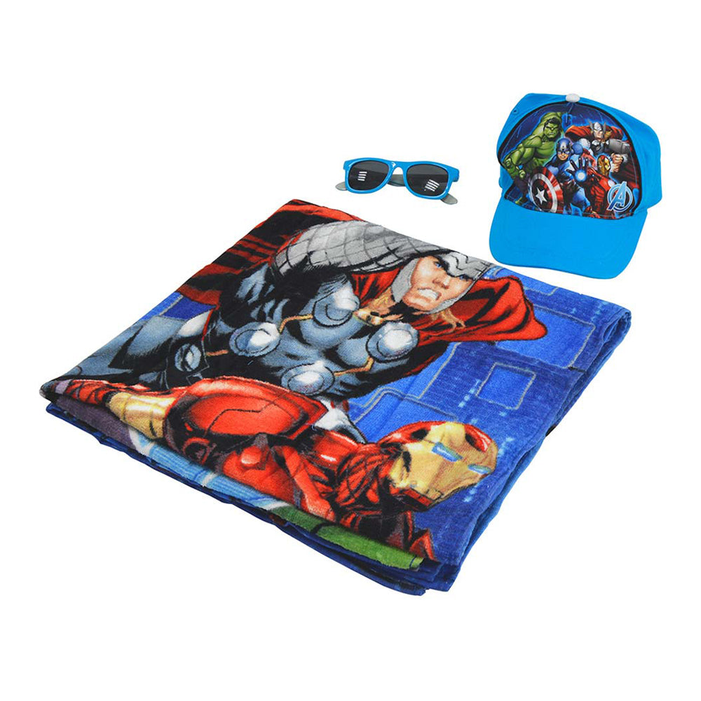 Avengers Beach Set-Bag,Towel,Caps & Sunglasses
