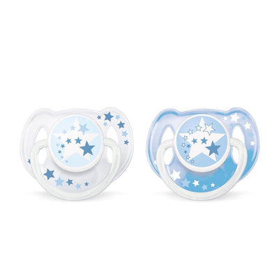 Philips Avent Night-Time Pacifier 6-18 Months, Pack Of 2
