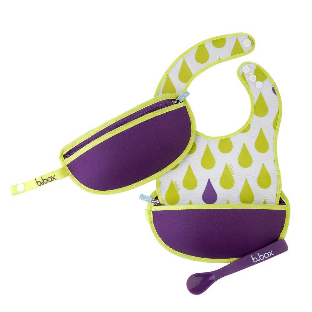 B.Box Travel Bib + Spoon - Splish Splash