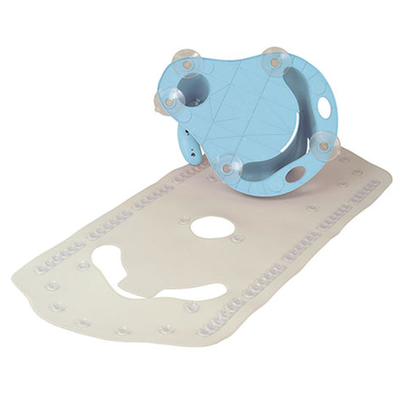 Olmitos Bath Seat & Mat, Blue