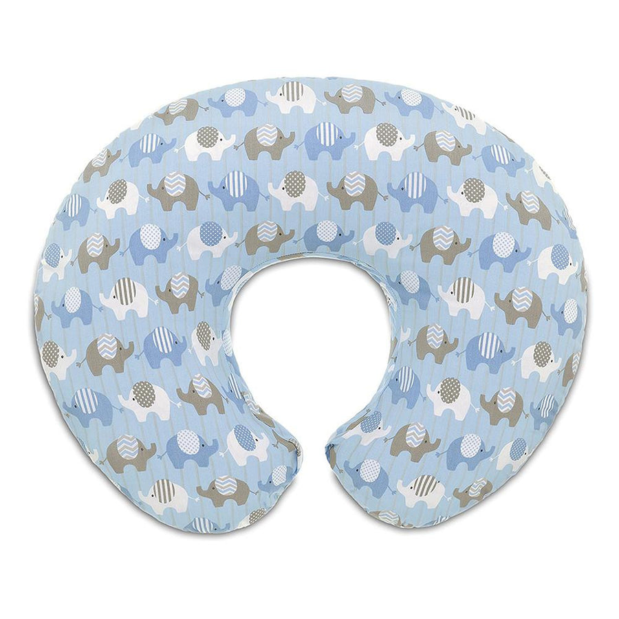 Boppy Cotton Slipcover -  Elephant Blue