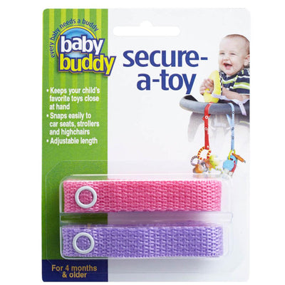 Baby Buddy Secure-A-Toy, Pink Purple