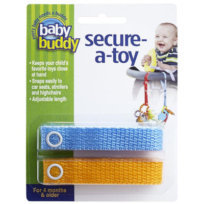 Baby Buddy Secure-A-Toy, Blue Orange