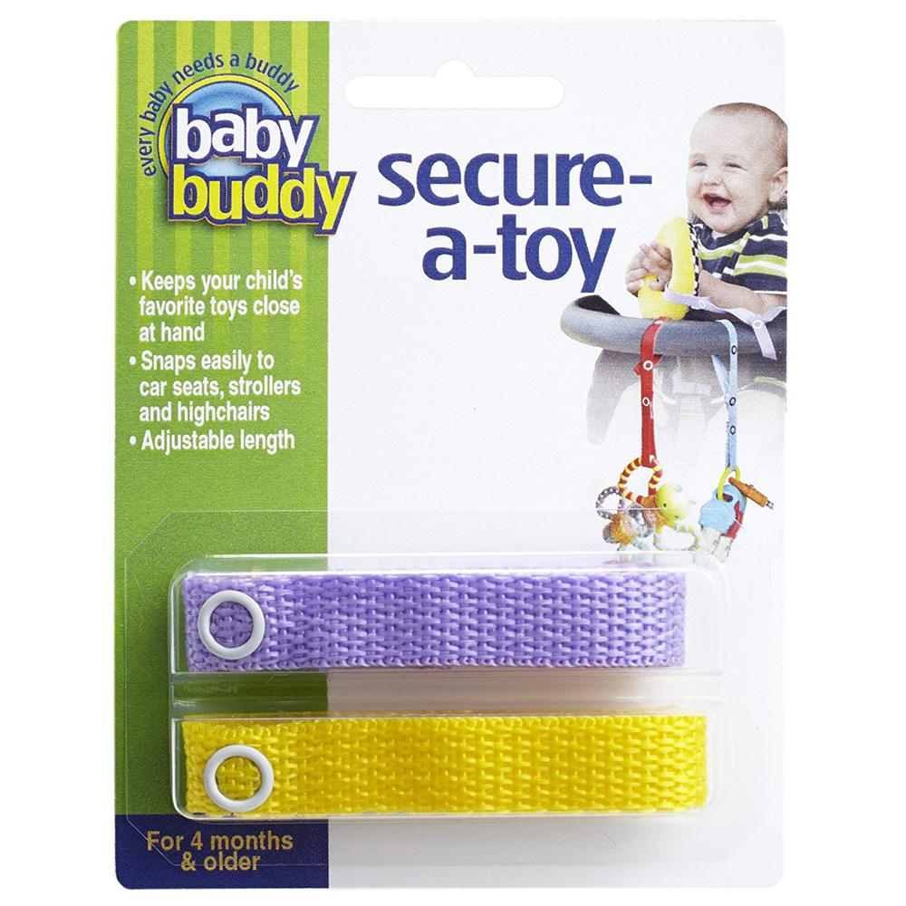 Baby Buddy Secure-A-Toy,  Lilac-Yellow