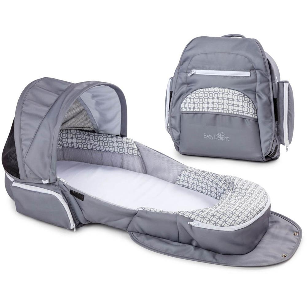 Baby Delight Snuggle Nest Traveler XL Infant Sleeper – Geo Hex